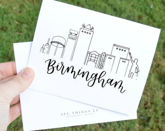 Set of 8 Notecards | Boxed Notecards | Birmingham Notecards | Thank You Notes | Birmingham Alabama Notes