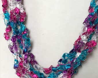New! Cupcake - Hand Crocheted Necklace