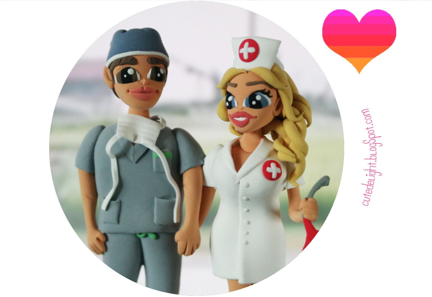 Wedding cake topper doctor cake topper doctors wedding cake zoom stopboris Image collections