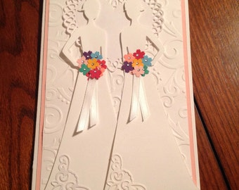 Handmade Wedding Card..Lesbian..so pretty