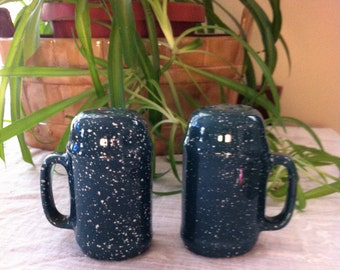 Blue/Green Speckled Salt and Pepper Shakers