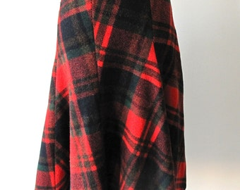 1950s Plaid Skirt
