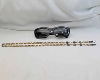 Tiger Eye and Chain Link Glasses Chain CLRL5