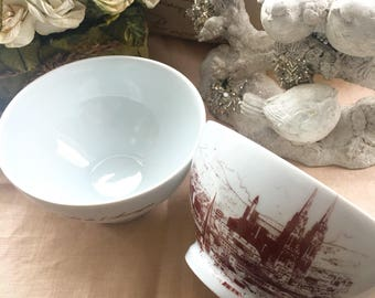 Set of 2 Limoges France Rice Bowls Limoges France Porcelain Bowls