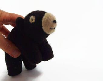 Spielzeug-Bär, Waldorf Bär, realistische Bär, Kind Spielzeug, Teddybär, Kuscheltier, Waldorf Tier, Wollfilz Tier