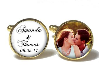 Custom Photo Groom Cuff Links | Personalized Cuff Links | Custom Wedding Gift | Style 729
