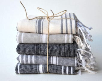 Express Shiping 5 TEA TOWEL set- 5 Baby Towel /Kitchen Textil / Dish Towel / Tea Towel / Kitchen towel / Turkish Blanket / Dish Towel