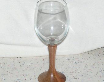 Bordeaux Style Wine Glass, Myrtle Beech Tiger Stripe