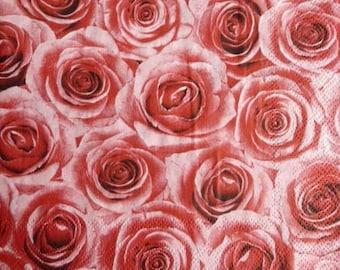 10 pink paper towel