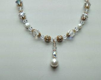 Swarovski Crystal Necklace & Swarovski Crystal Earrings Jewelry Set