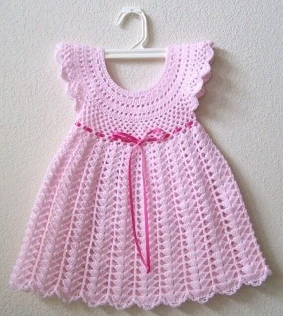 Häkeln Sie Mädchenkleid Häkeln Sie Baby Baby-Mädchen-Kleid
