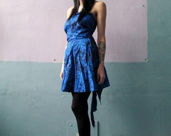 Vtg 60s Convertible Halter Style Dress / Tiki Goddess