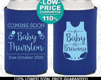 A Baby is Brewing, Baby Shower Decorations, Baby Reveal, Gender Reveal, Baby Shower Can Coolers (90039)
