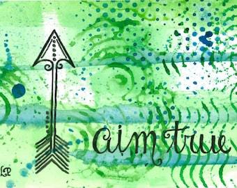 Aim True 4x6 Art Print