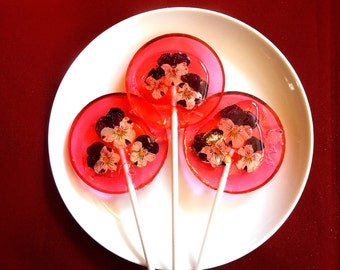 Gourmet Watermelon Ice Giant Lollipops Organic Violas Wedding Favors, Parties, Events