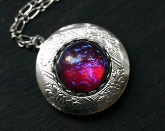 Dragon Breath Fire Opal Locket