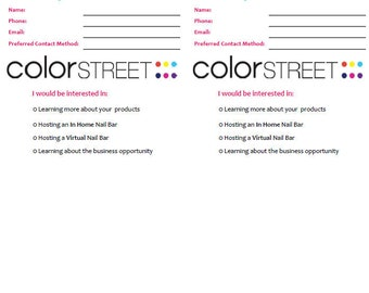 Let's Connect Cards (Color Street)