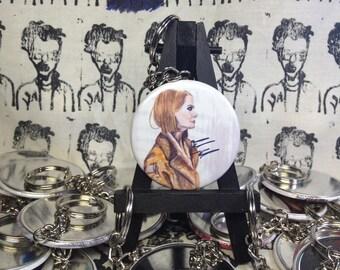 Margot Tenenbaum Royal Tenenbaums Wes Anderson original artwork keychain