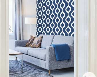 Living room wallpaper with moroccan design available self adhesive or traditional material