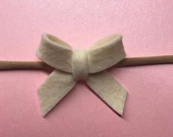 Mini Felt Bow Headband