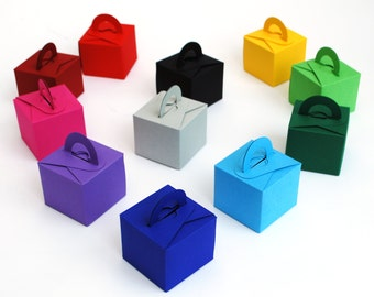 Recycled Card Party Gift Boxes, Small Gifts, Wedding Favours or Balloon Weights. Selection of Colours