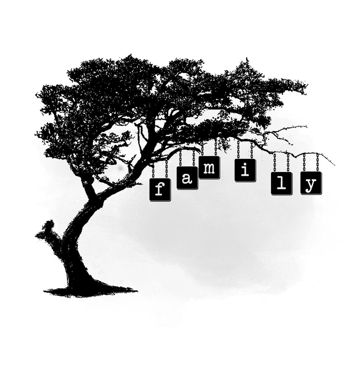 Árbol de familia gráfico, árbol genealógico citar palabra arte ...