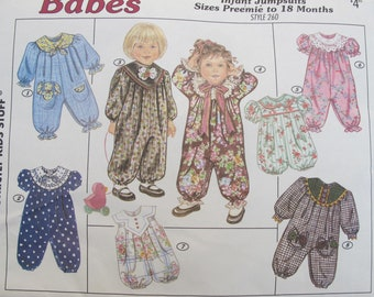 Infant Jumpsuits and Rompers - Babes by Sunrise Designs 260 Preemie to 18 months Factory Folds