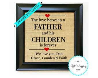 Fathers Day Gift from Children Group Kids Sons Son Daughters Daughter Unique Father's Day Gifts Birthday Present for Dad FRAME INCLUDED