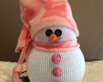 Lighted Snowman Ballerina