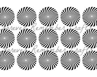 INSTANT DOWNLOAD Black & White Abstract 1 Inch Bottle Cap Image Sheets *Digital Image* 4x6 Sheet With 15 Images