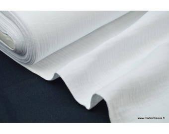 Double gaze coton Blanc .x1m