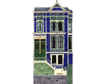 Tall House On 18th, San Francisco - Collectible Print