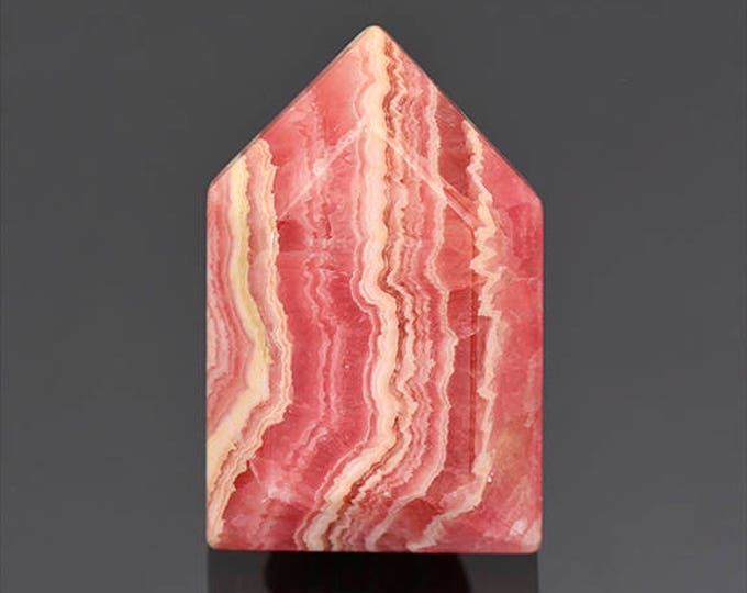 Gorgeous Pink Banded Rhodochrosite Cabochon from Argentina 51.83 cts.