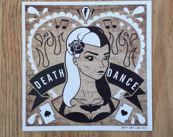 Betty: Psychobilly Girl Digital Print