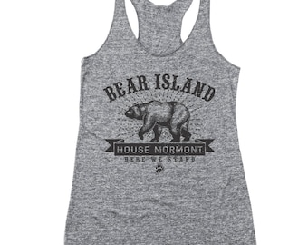 Bear Island House Mormont Got Game Of Thrones Story Racer Back Tri-Blend Tank Top DT1903
