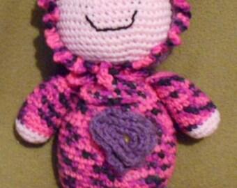 Crochet Sleeping Buddy Doll ~ Pink/Purple variegated ~ Scrappin Magic Crochet