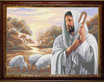 My Lord My Shepherd DIY bead embroidery kit beaded painting craft set Religion