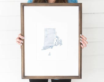 Rhode Island Watercolor, Rhode Island Print, Rhode Island Home, Rhode Island Wall Art, Rhode Island Painting, RI state, Rhode Island Decor