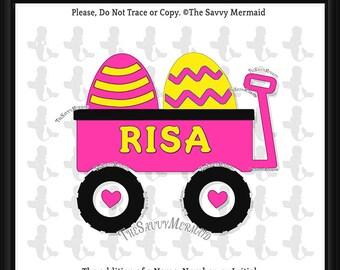 Easter SVG file Girl- Easter Egg Hunt Svg- Easter Shirt Svg file- Vinyl Design- Cricut Easter- Dxf Silhouette- Easter Cut file Wagon Iron On