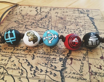 Percy Jackson and the Olympians Camp Half Blood Necklace, 5 Beads