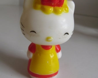 SALE Vintage Hello Kitty Figurine 80s Toys Figurines Cats and Kitties 80s Hello Kitty Cake topper Hello Kitty Birthday Party