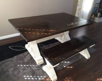 The X Tra Large Table With Bench .