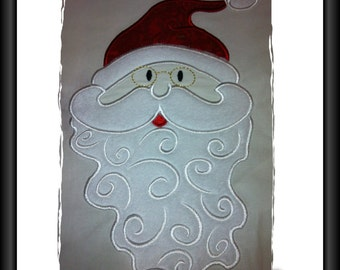 Santa Applique Design for Machine Embroidery 8 x 12inch/200x300mm  Hoop