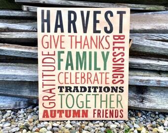 Thanksgiving Decor / Fall Decor / Wall Decor / Harvest Decorations / Fall Decorations / Fall / Wall Art / Fall Signs / Home Decor