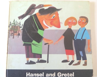 Hansel and Gretel, June Parmeley, E. Probst, 1966, Vintage 1960s Illustrated Children's Book