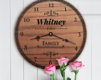 Home Decor - Family Last Name - Home Gift For Family - Family Gift - Custom Last Name - Our Home Clock
