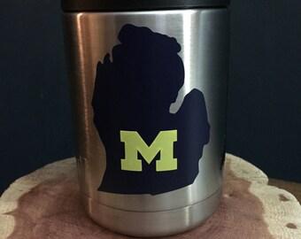 College decal, University of Michigan, Yeti Decal, Michigan Decal, U of M logo, U of M yeti decal, Wolverines
