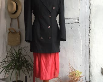 Vintage Tailored Black Blazer Jacket