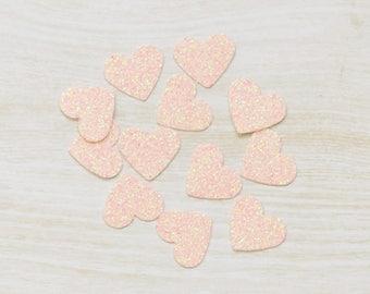 Glitter Heart Confetti, Wedding confetti, handmade confetti, birthday party, table scatters, wedding decor, 1st birthday party, baby shower
