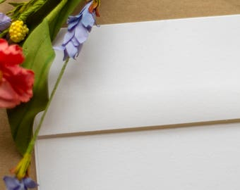 A7 envelopes, white 5 x 7 square flap envelopes - perfect for 5 x 7 photos and cards